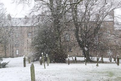 snowing in Alston today