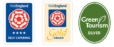 Four star gold and Green Tourism silver awards - self-catering cottages in Cumbria's wild North Pennine